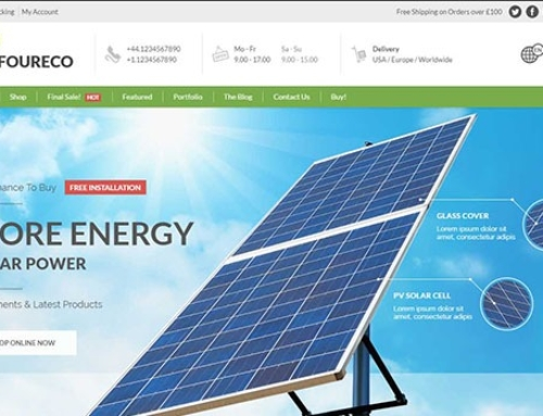 8 premium WordPress Themes for Solar Panel, Wind Turbines and Alternative Energy Shop Website (May 2017)