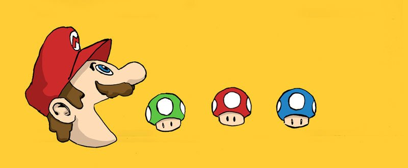 mario and mushrooms banner