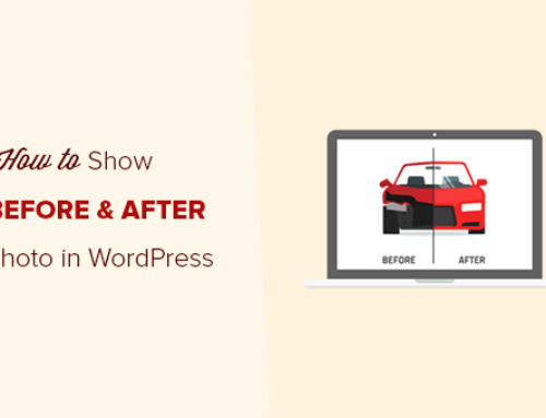 How in WordPress to show photos before and after